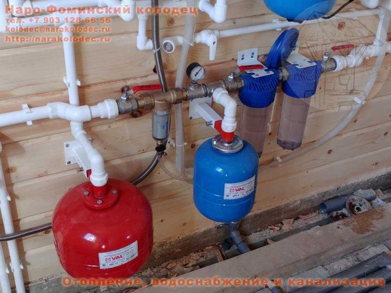 Гидробак и фильтры в бойлерной КП Николины Озёра Наро-Фоминск Наро-фоминский район